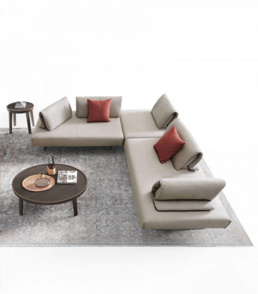Canapea fixa 5 locuri Abbraccio stil Scandinav L303cm image0