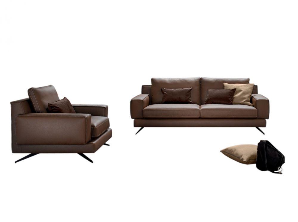 Canapea fixa 3 locuri Kennedy stil Modern L218cm image0