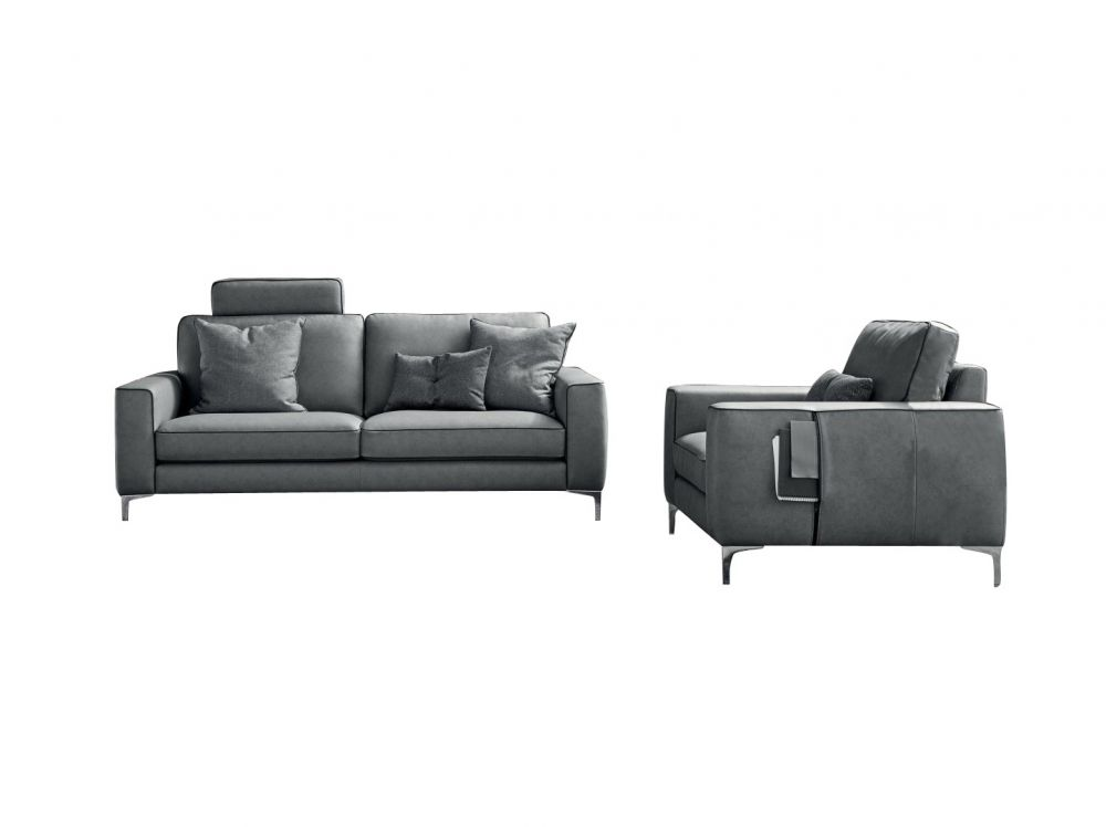 Canapea fixa 3 locuri Russel stil Modern L208cm image0