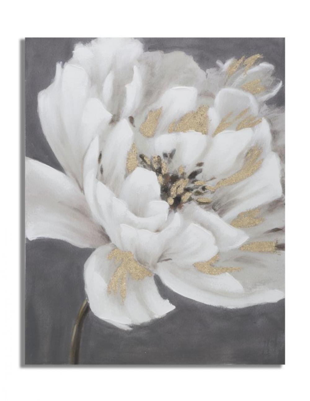 Tablou cu flori cu structura din lemn de pin multicolor image0