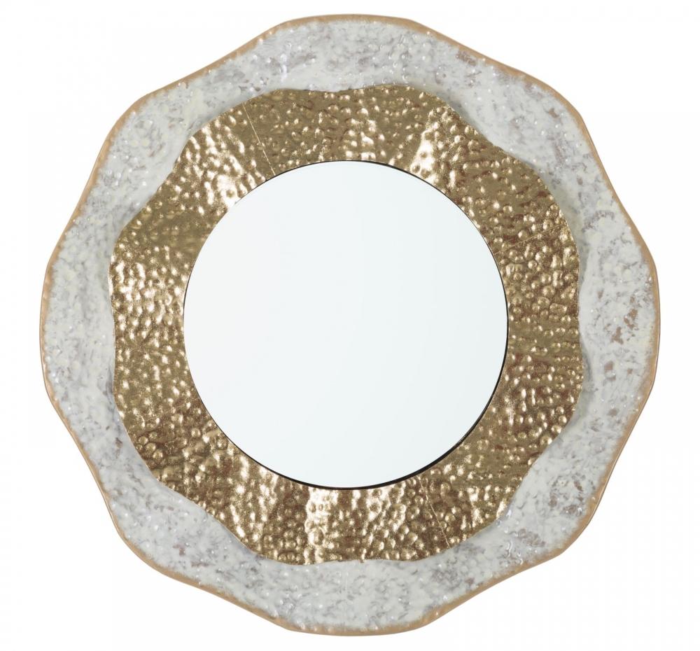 Oglinda rotunda cu rama metalica aurie Gans 545x45x545cm image0