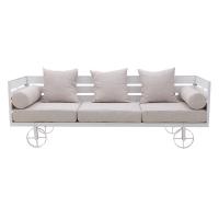 Canapea 3 locuri pe structura de lemn crem  L192