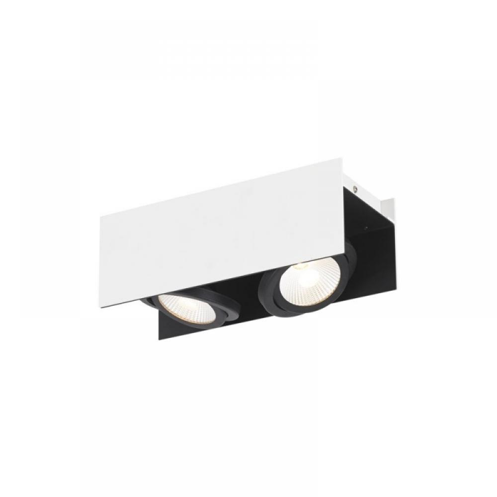 Plafoniera Hidalgo LED 2x5.4W 1020lm dimabil Alb-Negru imagine 2021 insignis.ro