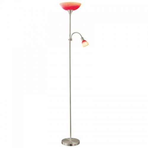 Lampadar UP2  E27 60W E14 25W rosu-portocaliu
