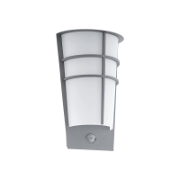 Aplica exterior cu senzor Ganza  LED 2x2.5W 360lm 3000k Otel zincat-Argintiu