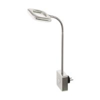 Veioza LED de priza LITAGO  nichel 4W 350lm 3000K