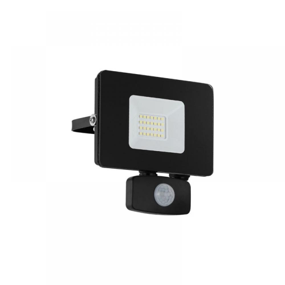 Proiector exterior LED cu senzor de miscare Faedo 20W 1800lm 5000K Negru imagine 2021 insignis.ro