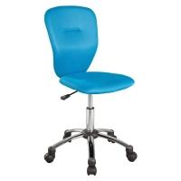 Scaun cu rotile de birou Lema albastru
