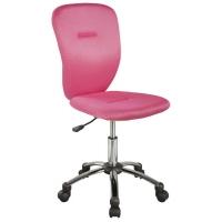 Scaun cu rotile de birou Lema roz