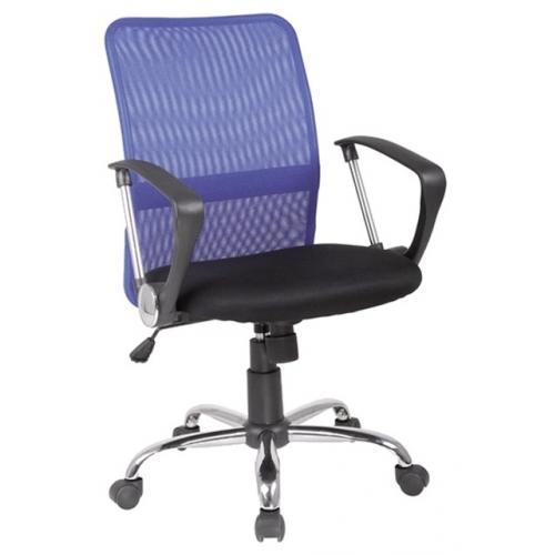 Scaun de birou cu rotile Verga albastru