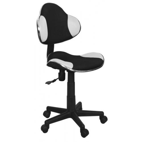 Scaun de birou cu rotile office Berla negru alb