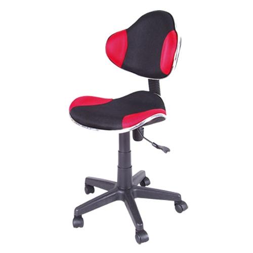 Scaun de birou cu rotile office Berla negru rosu