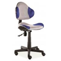Scaun de birou cu rotile office Berla alb albastru