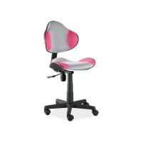 Scaun de birou cu rotile office Berla gri roz