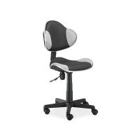Scaun de birou cu rotile office Berla negru gri