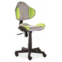 Scaun de birou cu rotile office Berla gri verde