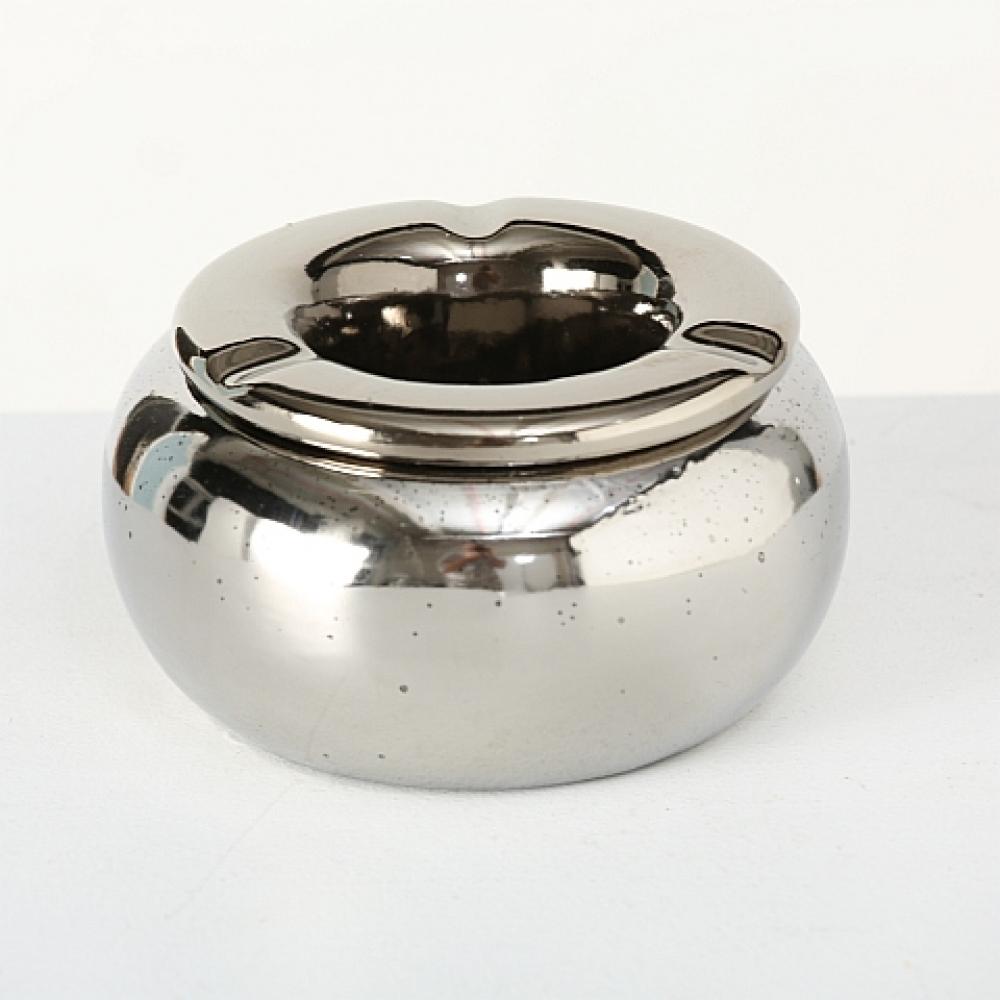Scrumiera argintie H8 D14cm imagine 2021 insignis.ro