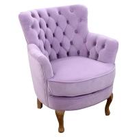 Fotoliu de lux din catifea King Sofa pink