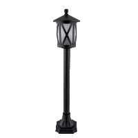 LAMPADAR GRADINA  STAND 1XE27 NEGRU H775mm ERIN
