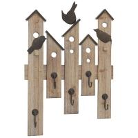 Cuier perete Bird House maro