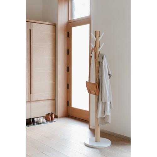 Cuier de haine groase Flaps alb-natural