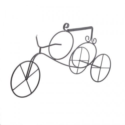 Suport sticle de vin metalic tricicleta