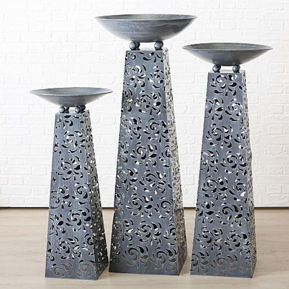 Boluri decorative Tower cu suport set 3 buc H102-142 imagine 2021 insignis.ro
