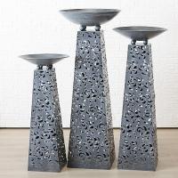 Boluri decorative Tower cu suport set 3 buc H102-142