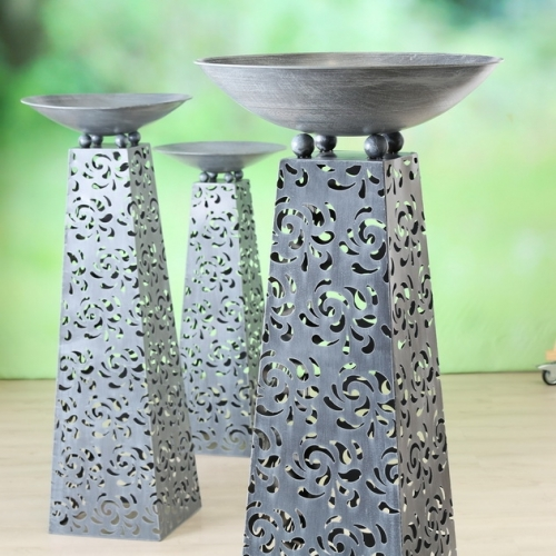 Boluri decorative Tower cu suport set 3 buc H102-142