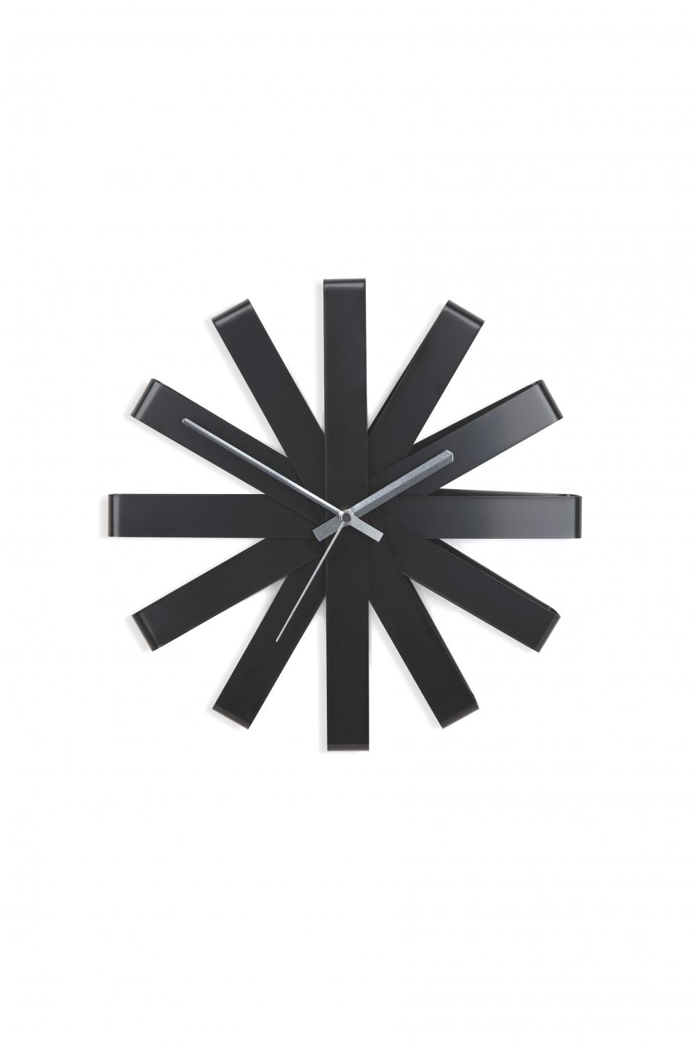 Ceas de perete Ribonne 12 inci negru imagine 2021 insignis.ro