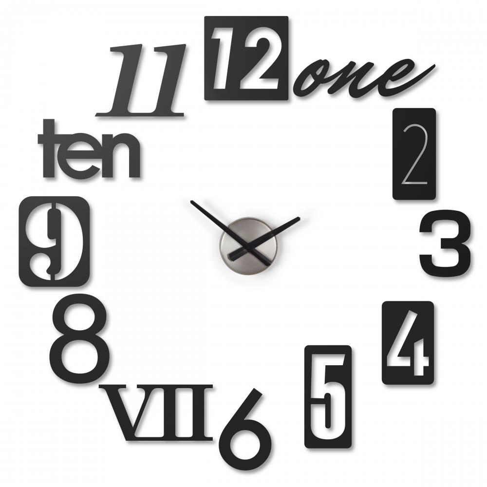 Ceas de perete negru Numbra imagine 2021 insignis.ro