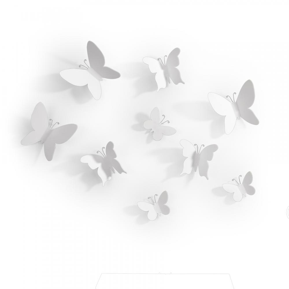 Fluturi White set 9 buc imagine 2021 insignis.ro