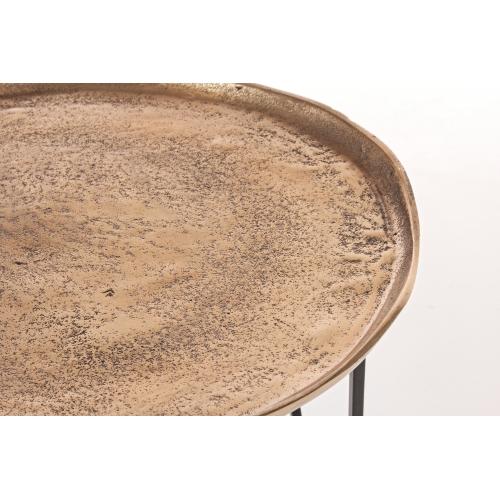 Masuta de cafea AMIRA set2  Auriu H41/46