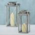 Felinare argintii set 2 buc H36-46