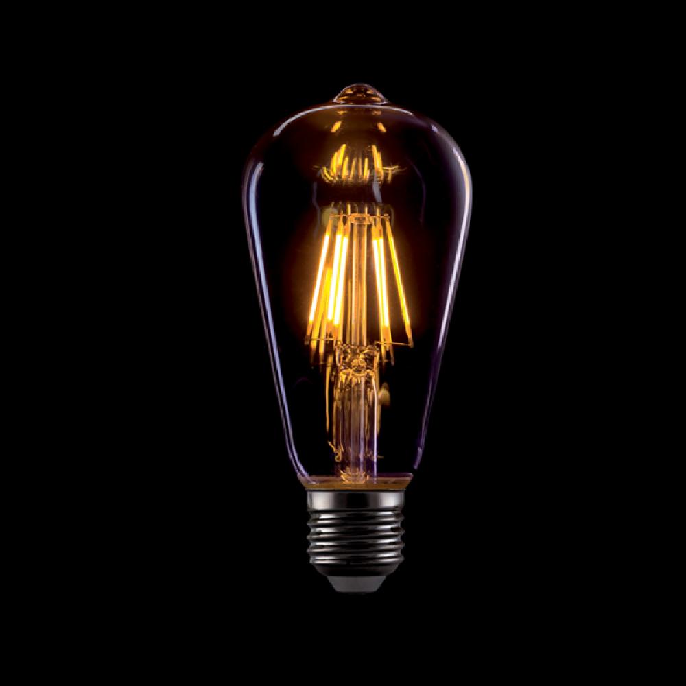 BEC LED VINTAGE DIM. ST64 8W E27 2800-3200K FUMURIU imagine 2021 insignis.ro
