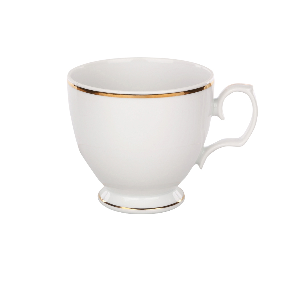 Cescuta cafea din portelan MariaPaula GoldenLine 220ml imagine 2021 insignis.ro