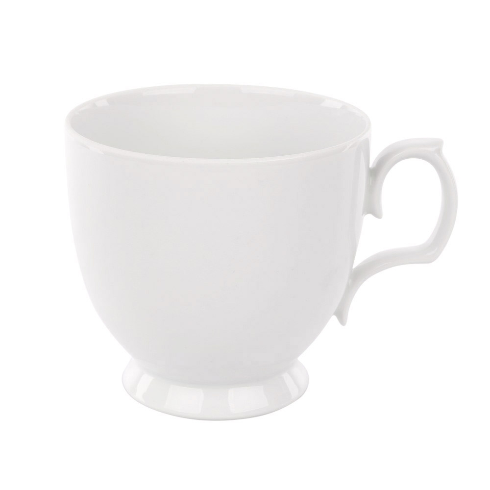 Cana cappuccino din portelan MariaPaula Biala 350ml imagine 2021 insignis.ro