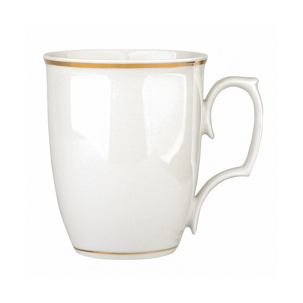 Cana ceai/cafea din portelan MariaPaula GoldenLine 360ml imagine 2021 insignis.ro