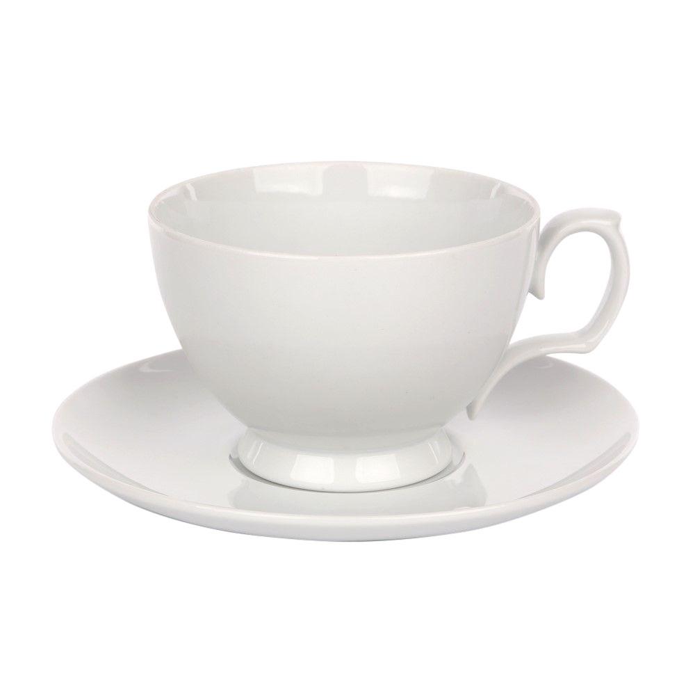 Ceasca de cafea si farfuriuta din portelan MariaPaula Bianco 350ml imagine 2021 insignis.ro
