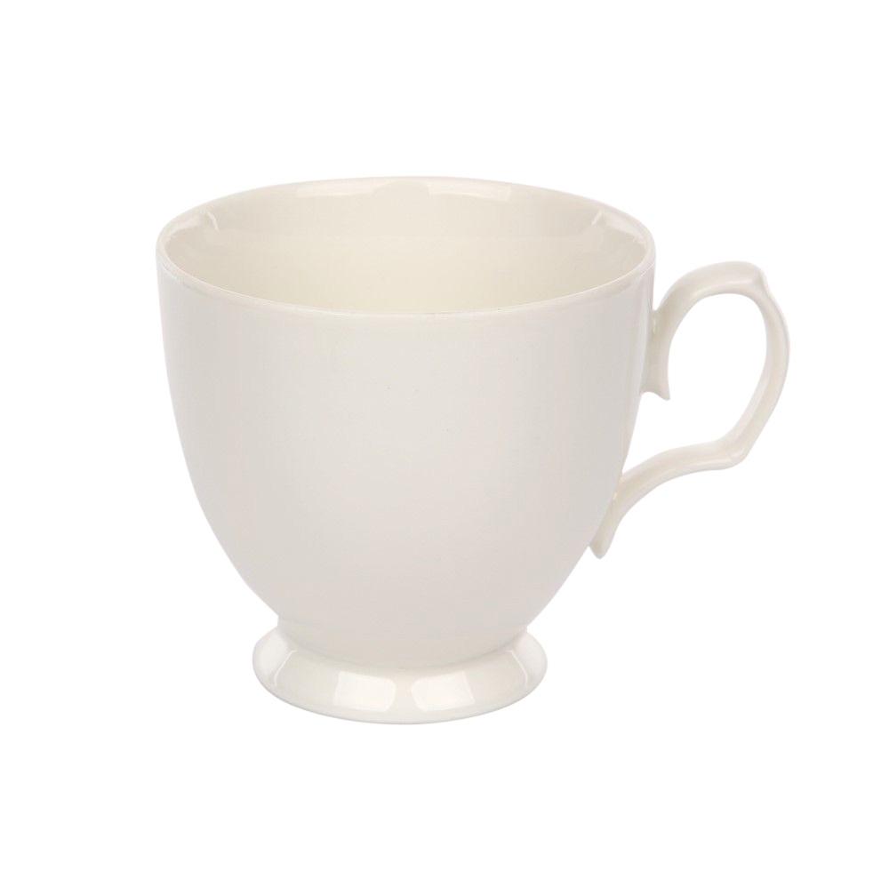 Ceasca cafea din portelan MariaPaula Ecru 220ml imagine 2021 insignis.ro