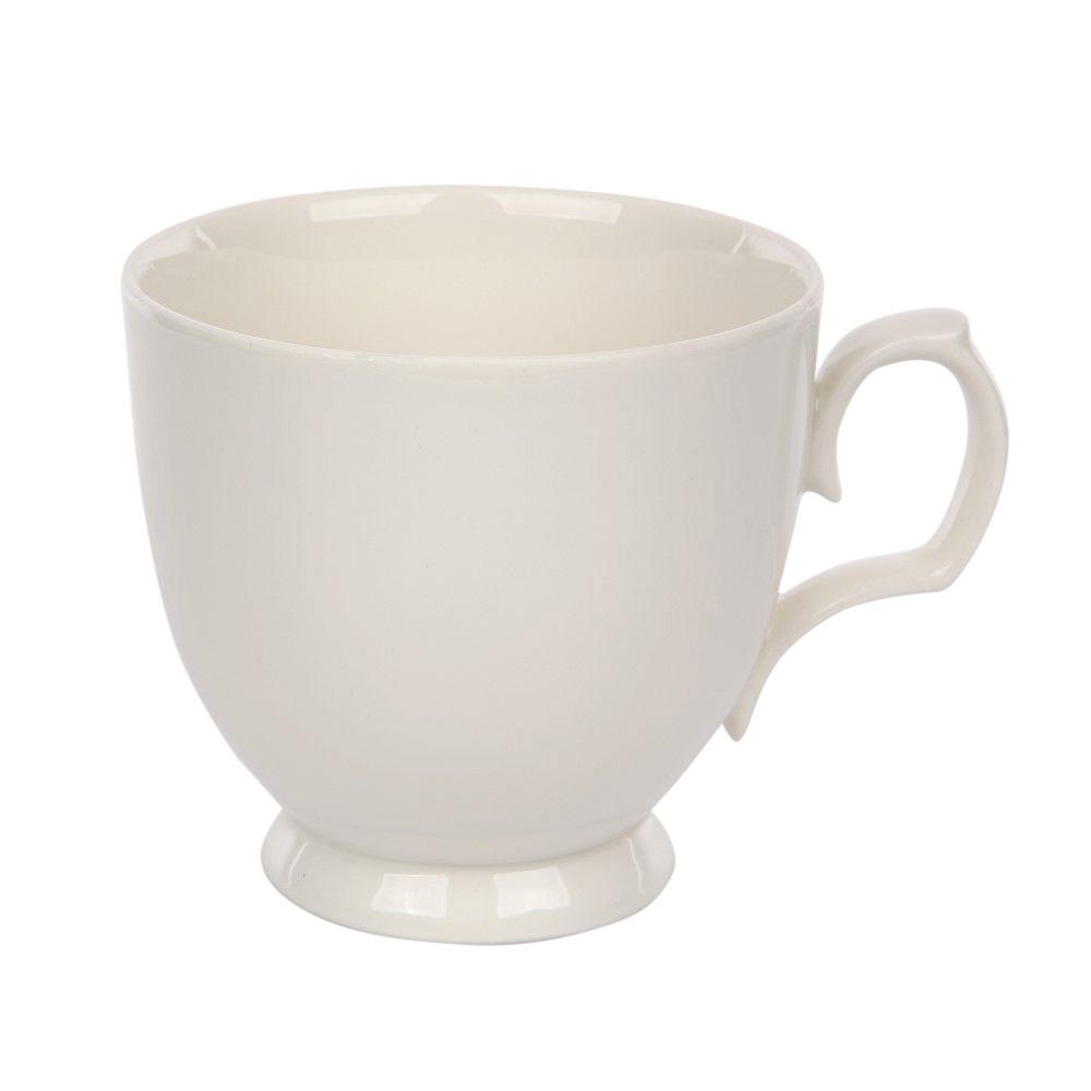 Ceasca cappuccino din portelan MariaPaula Ecru 350ml imagine 2021 insignis.ro