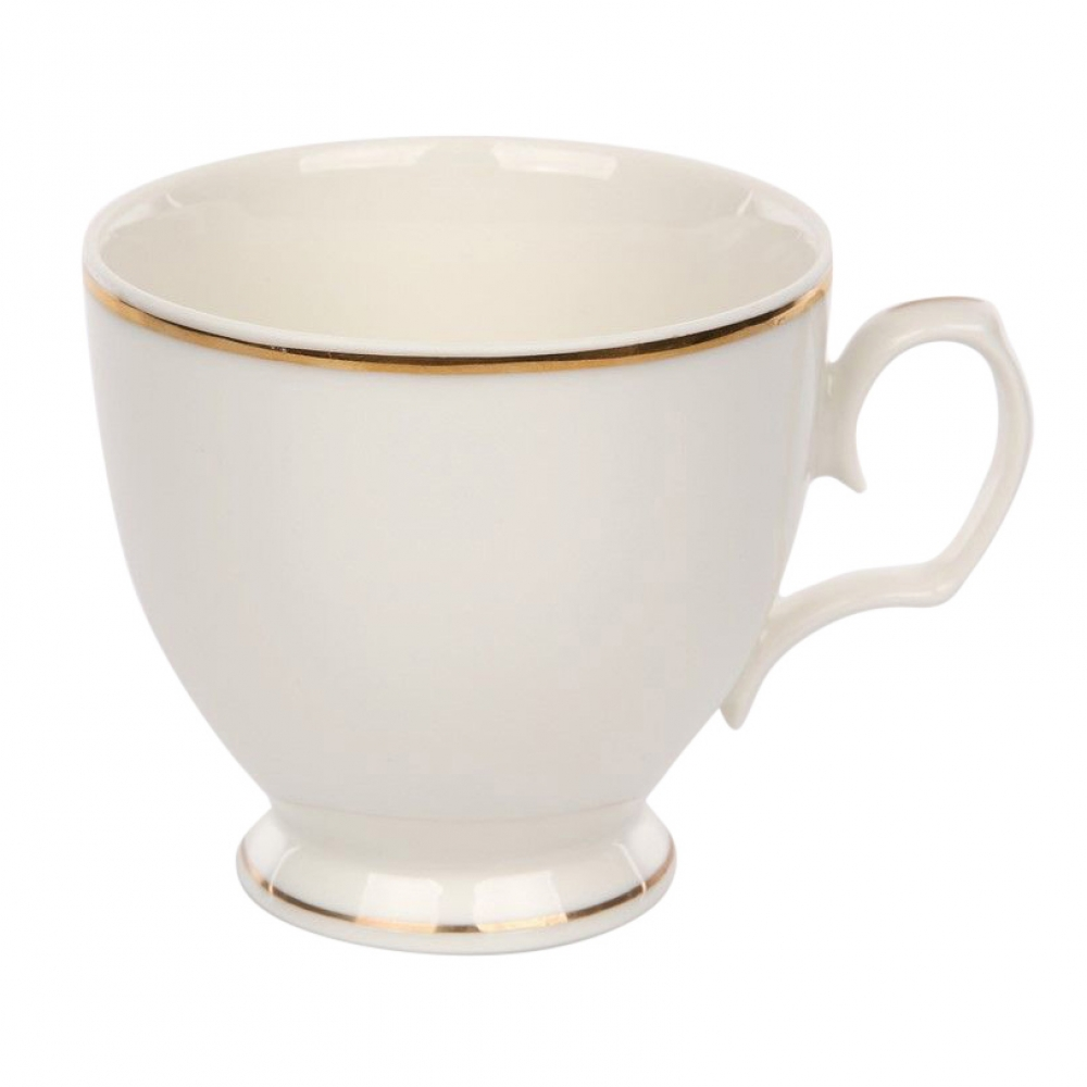 Ceasca cappuccino MariaPaula Ecru GoldLine 350ml imagine 2021 insignis.ro