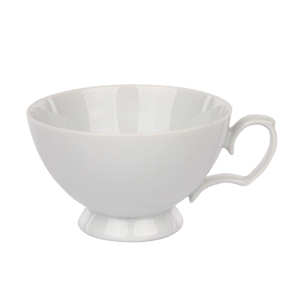Cana ceai din portelan MariaPaula Bianco 220ml imagine 2021 insignis.ro