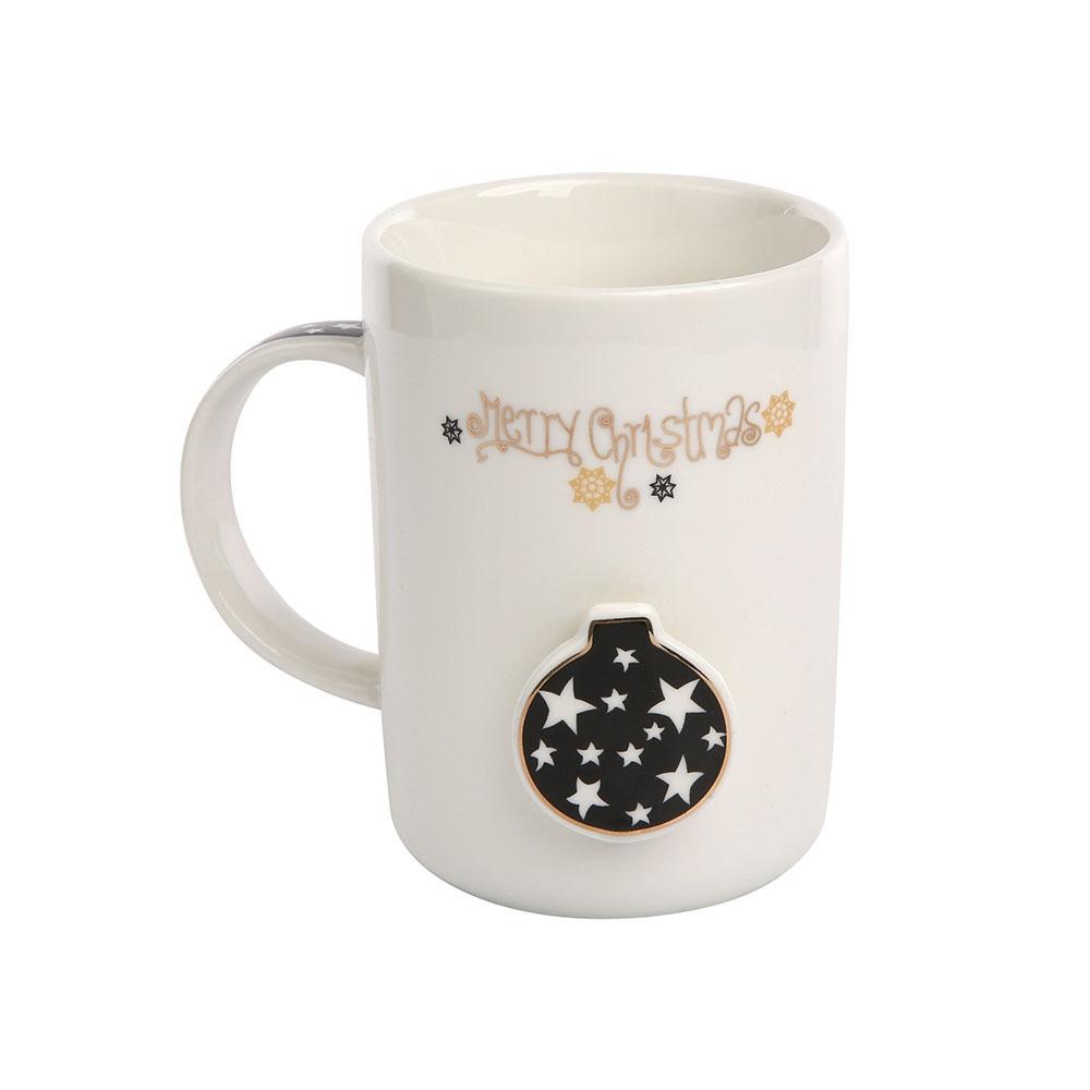 Cana de cafea din portelan Multicolor Nordin Winter 360ml imagine 2021 insignis.ro
