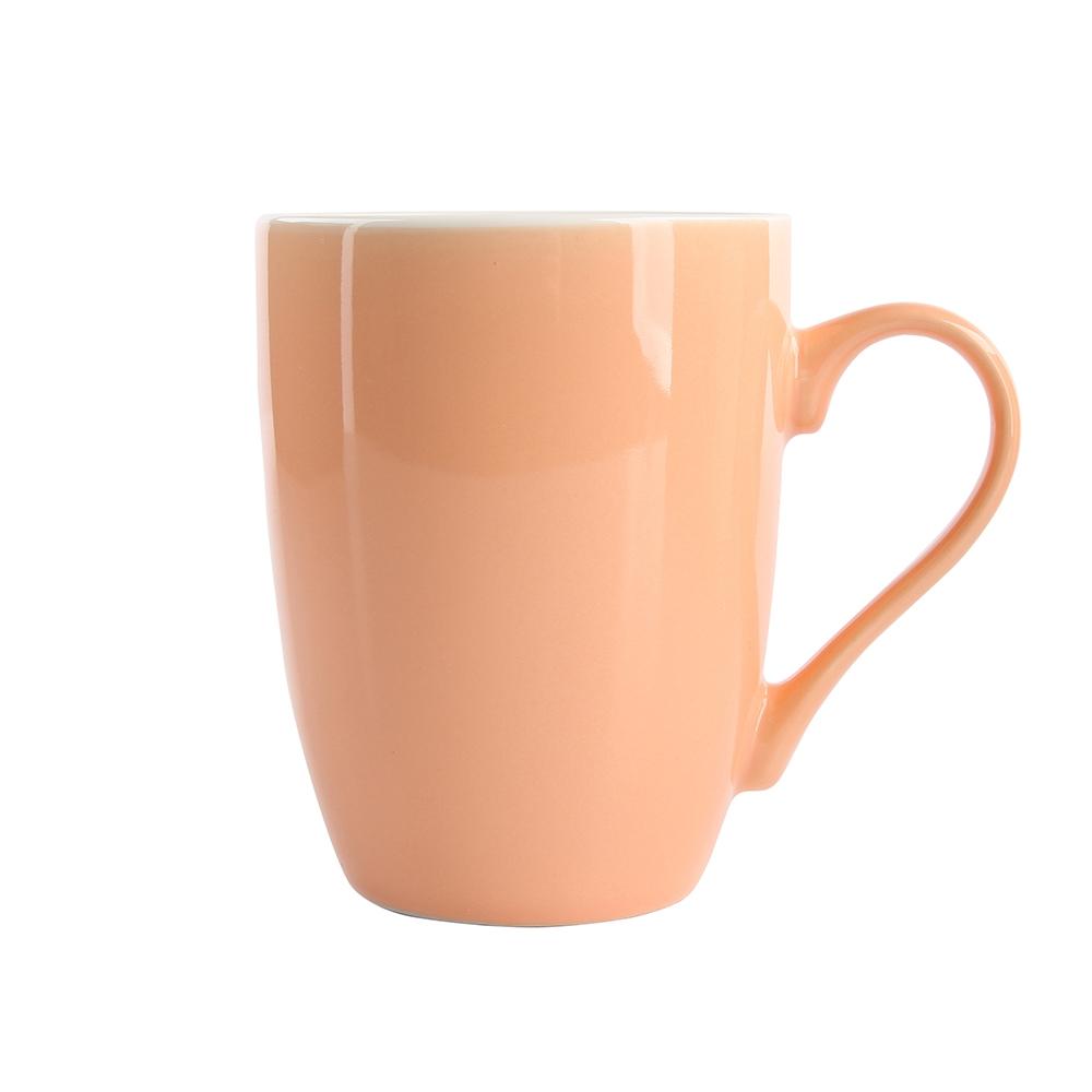 Cana de cafea din portelan Portocaliu Monokolor 300ml imagine 2021 insignis.ro