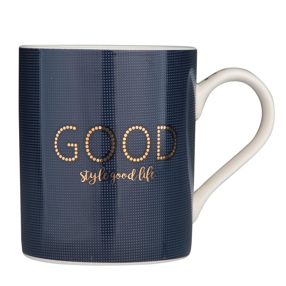 Cana de cafea din portelan Albastru Good Life 400ml imagine 2021 insignis.ro