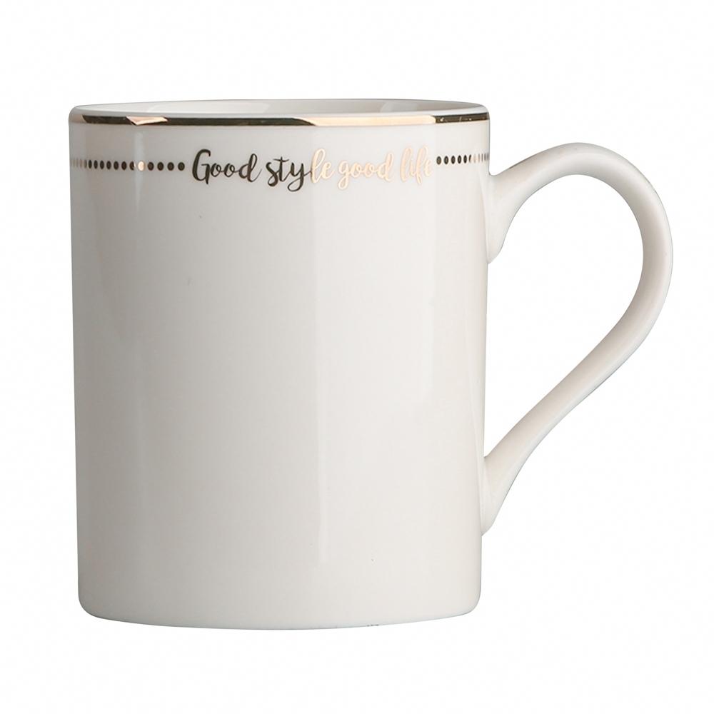 Cana de cafea din portelan Alb Good Life 320ml imagine 2021 insignis.ro