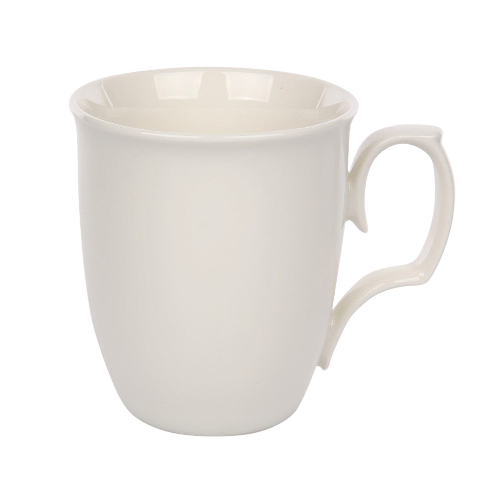 Cana de cafea din portelan MariaPaula Ecru 360ml imagine 2021 insignis.ro