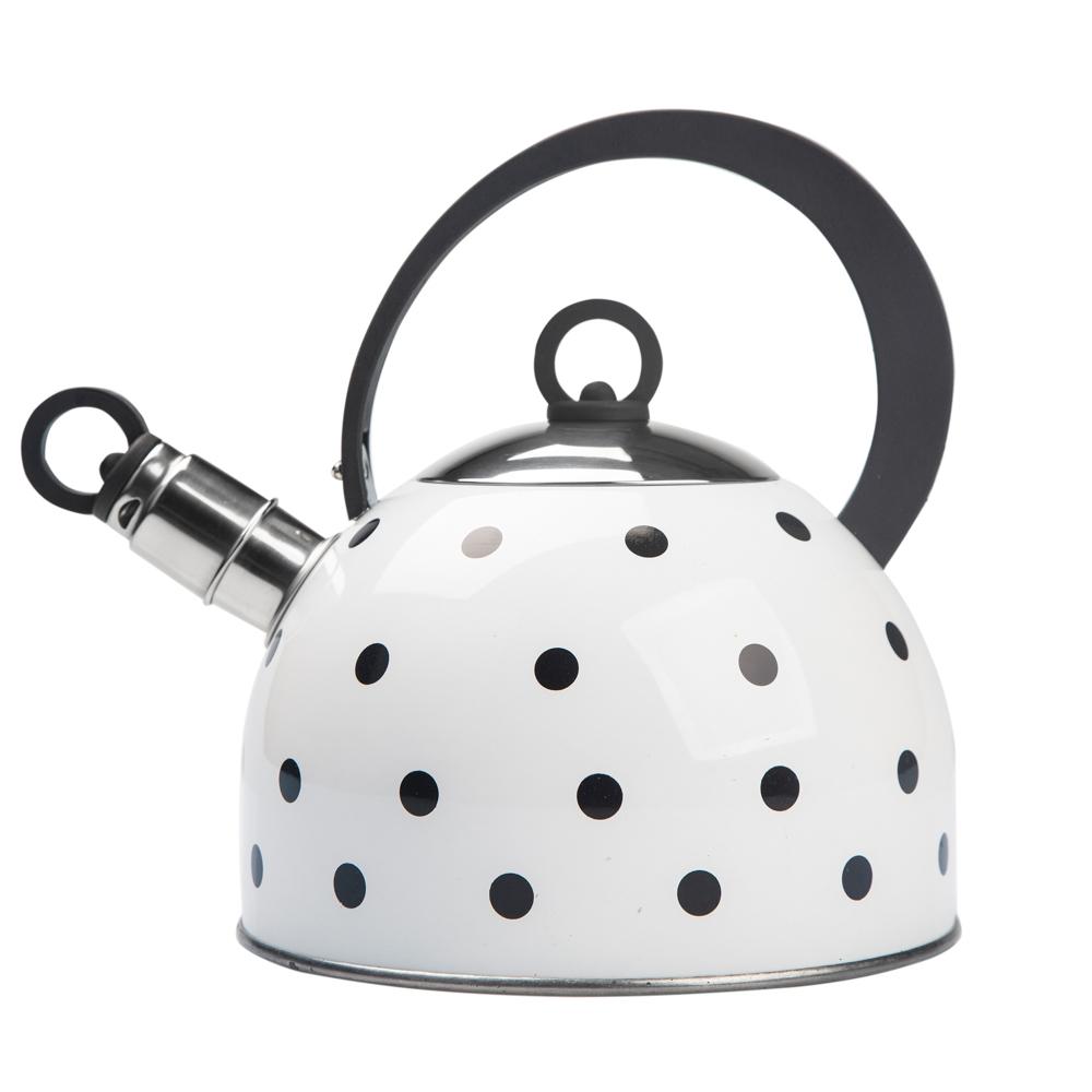 Ceainic cu buline din otel inoxidabil Alb Talus Design 2.5l imagine 2021 insignis.ro