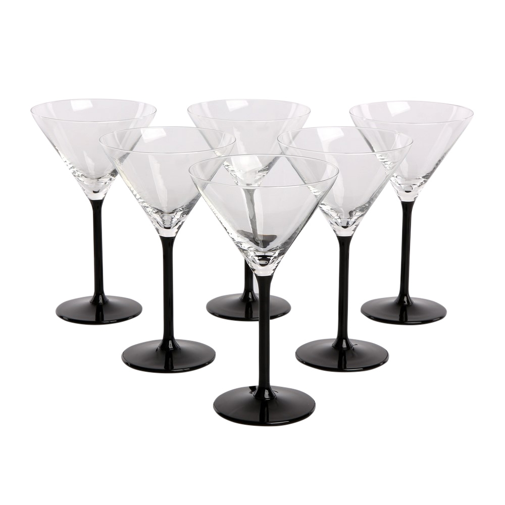 Set 6 pahare de martini Onyx 290ml imagine 2021 insignis.ro